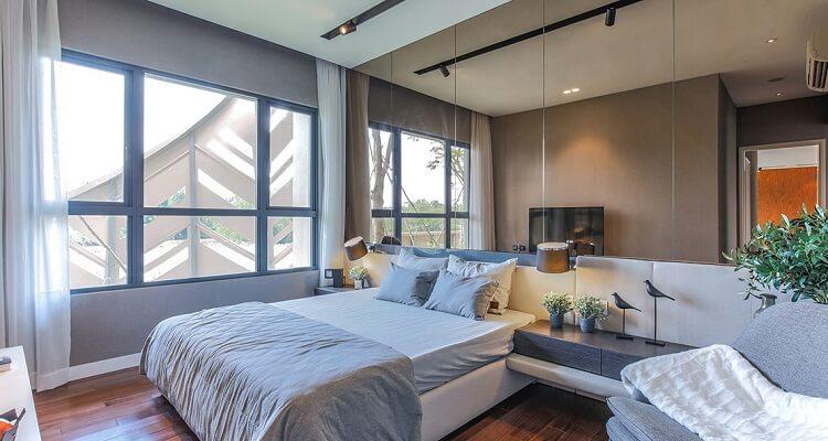 Phòng ngủ chính căn hộ mẫu Palm Heights 3 phòng ngủ (loại lớn)