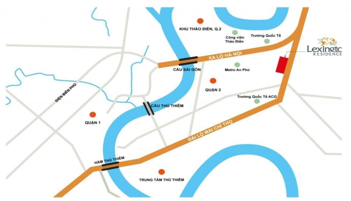Bản đồ vị trí Lexington Residence
