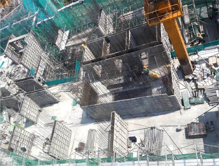 Cập nhật tiến độ xây dựng căn hộ Palm Heights - Palm City