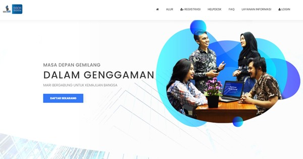 Tampilan halaman web SSCN BKN yang resmi untuk daftar CPNS 2021 online (https://sscn.bkn.go.id/)