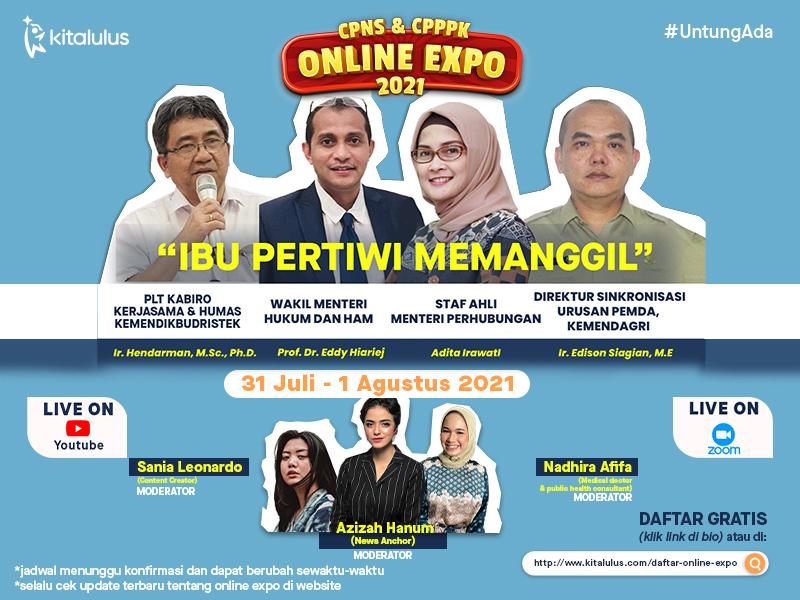 Online Expo CPNS dan CPPPK 2021 KitaLulus