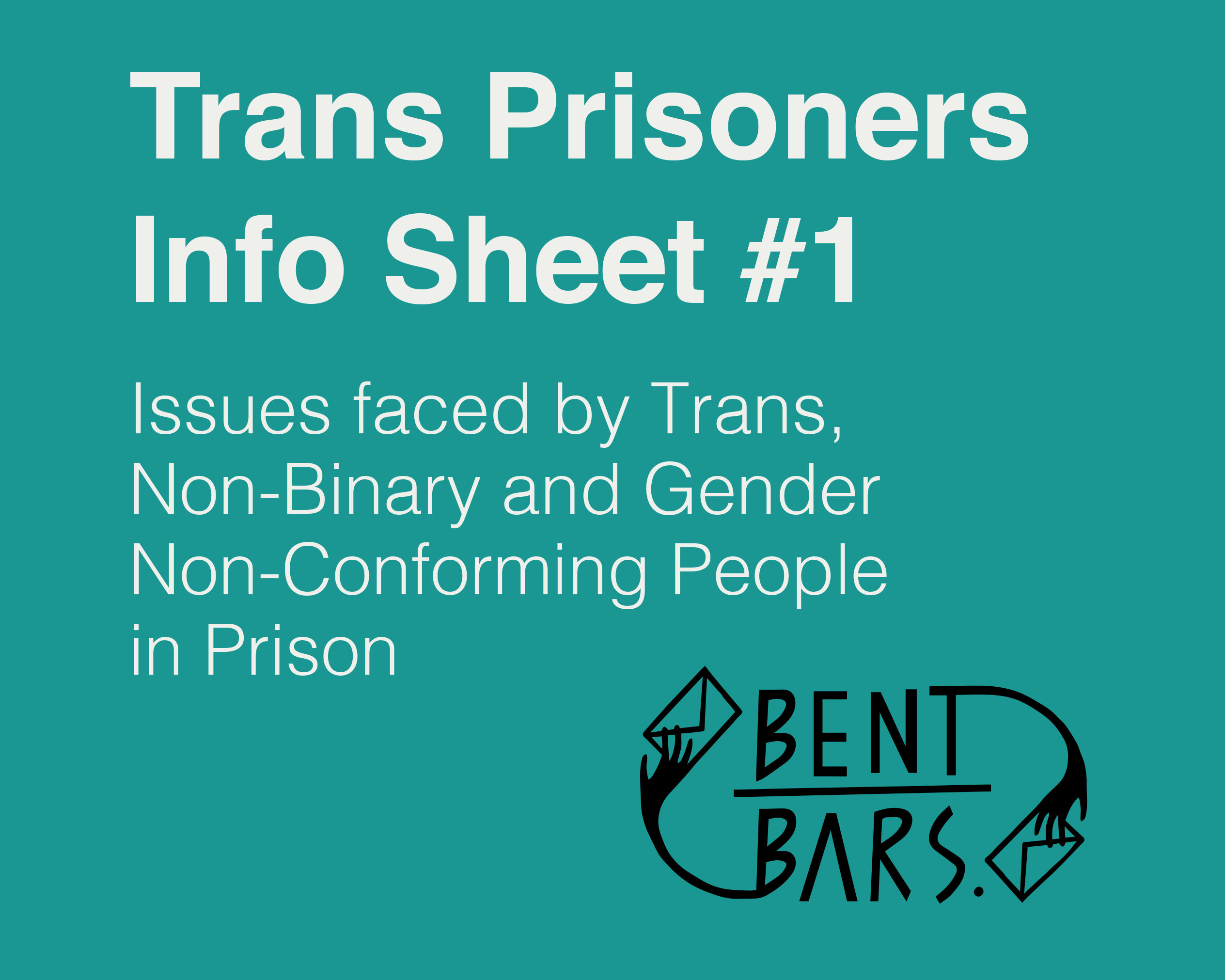 Trans Prisoner Info Sheet 1 page cover