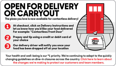 Pizza Hut Expanding Team To Serve America Through Contactless Delivery,  Carryout, And Curbside Pickup | Markets Insider