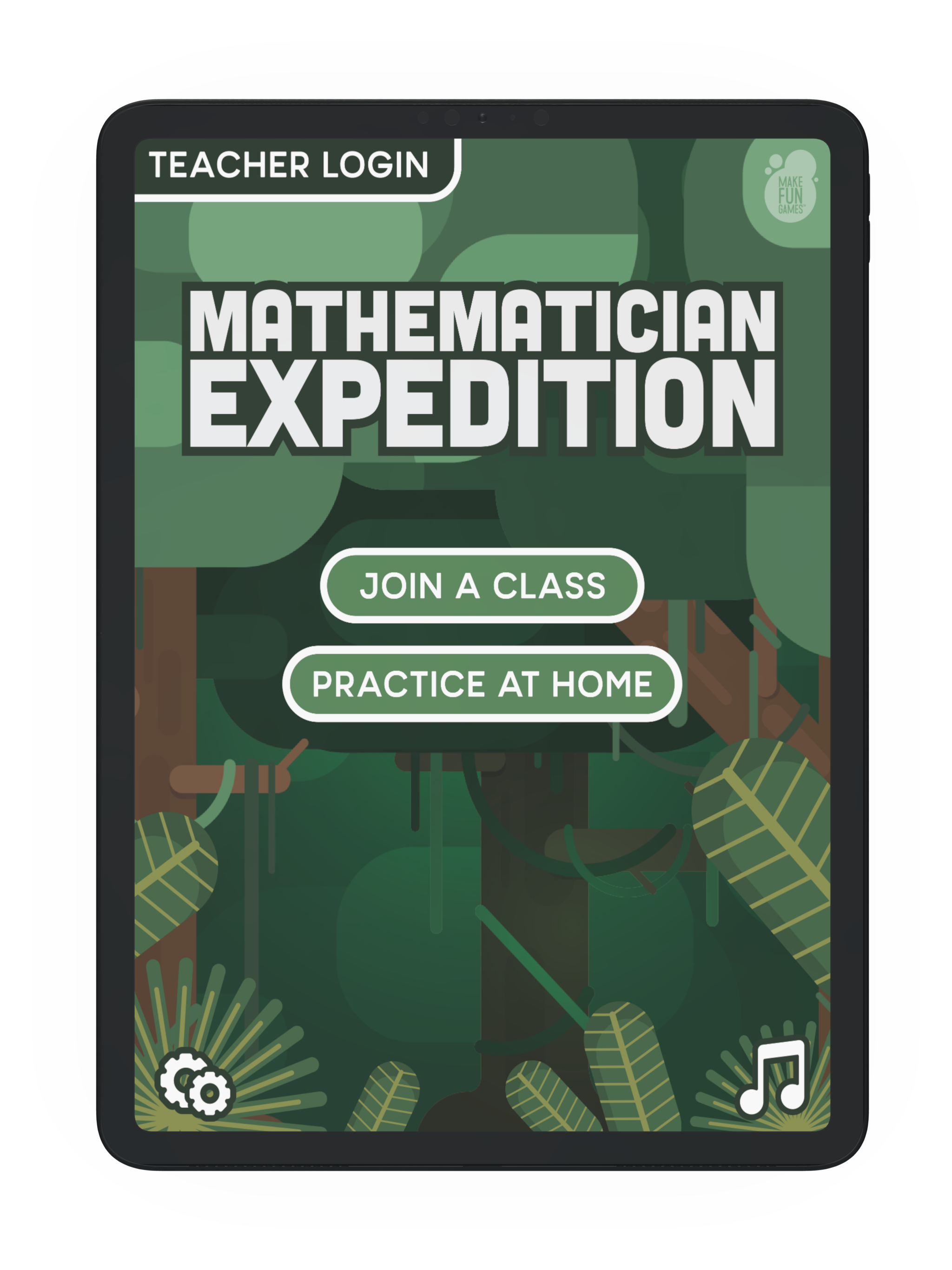 Mathematician Expedition home screen