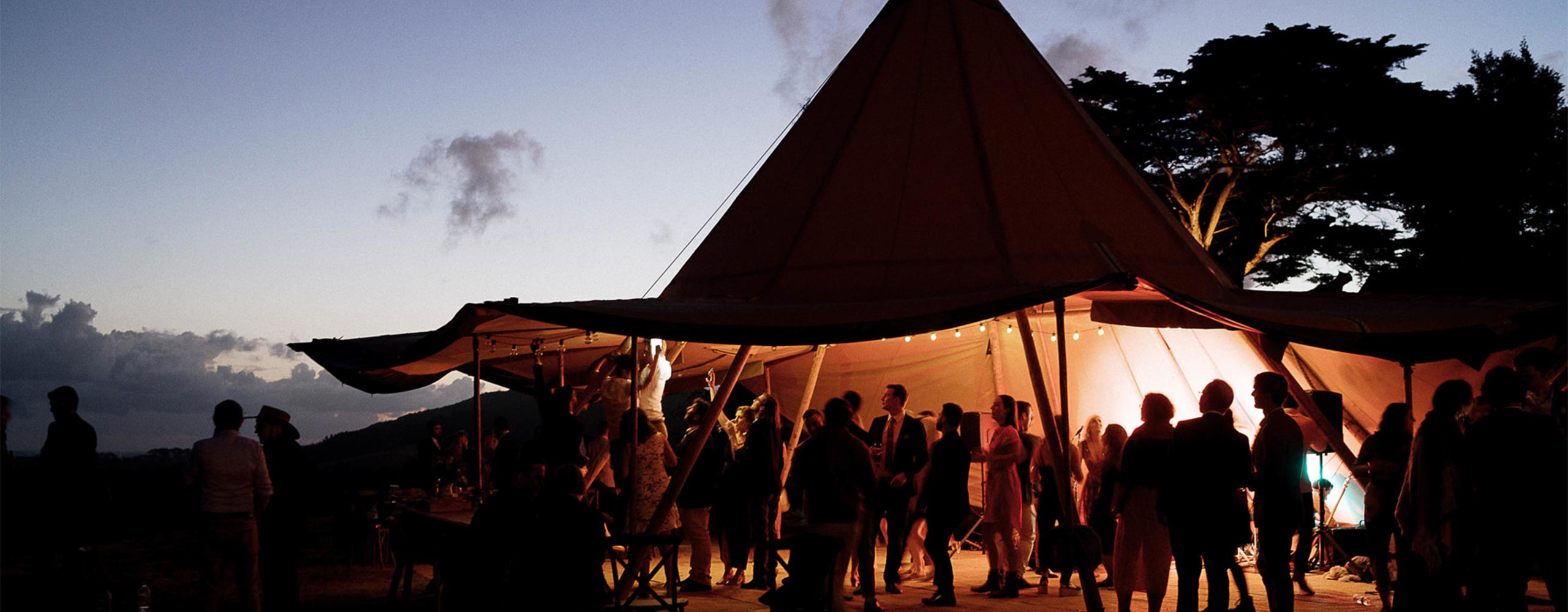 Giant Tipi — wedding dance parties in a marquee alternative
