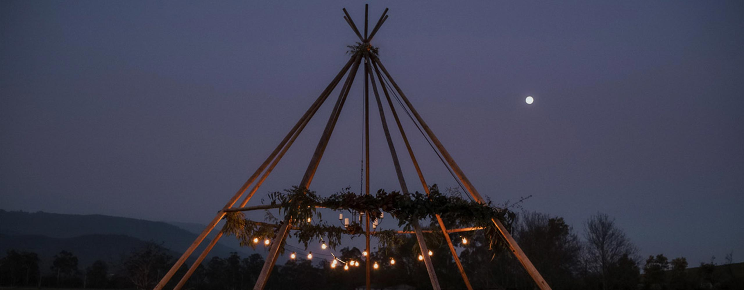 Naked Tipi — boho styled wedding party in Gippsland, Victoria