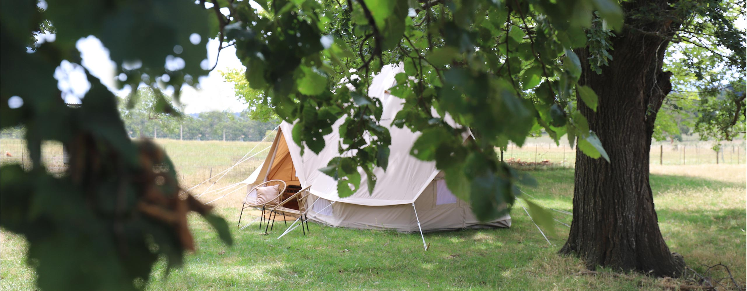 Newlyweds Suite — Twin bell glamping tent in regional Victoria