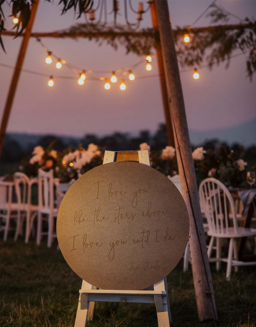 Naked Tipi — styled shoot with festoon and fairy lights near Melbourne, Victoria