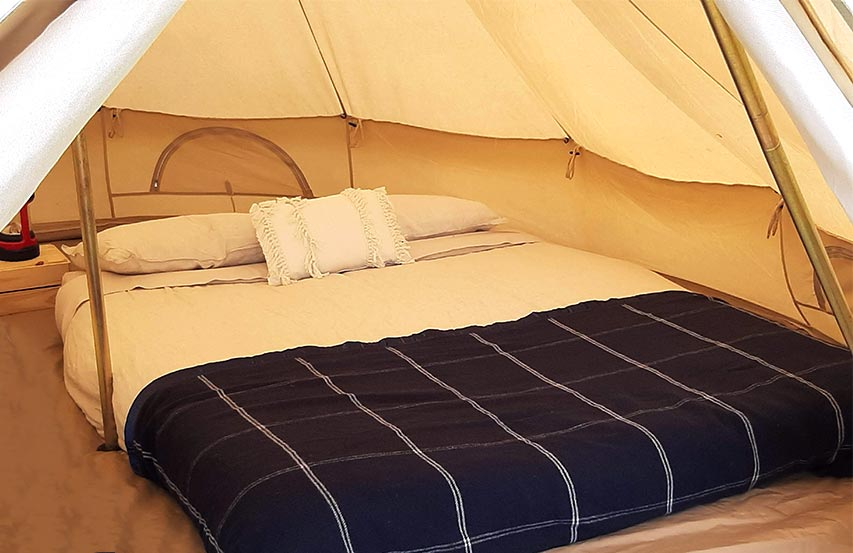 Glamping — Semi styling inside bell tent