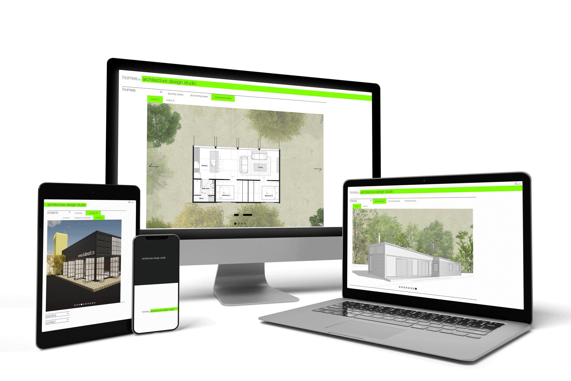 Architecture Design Studio - Website on all devices