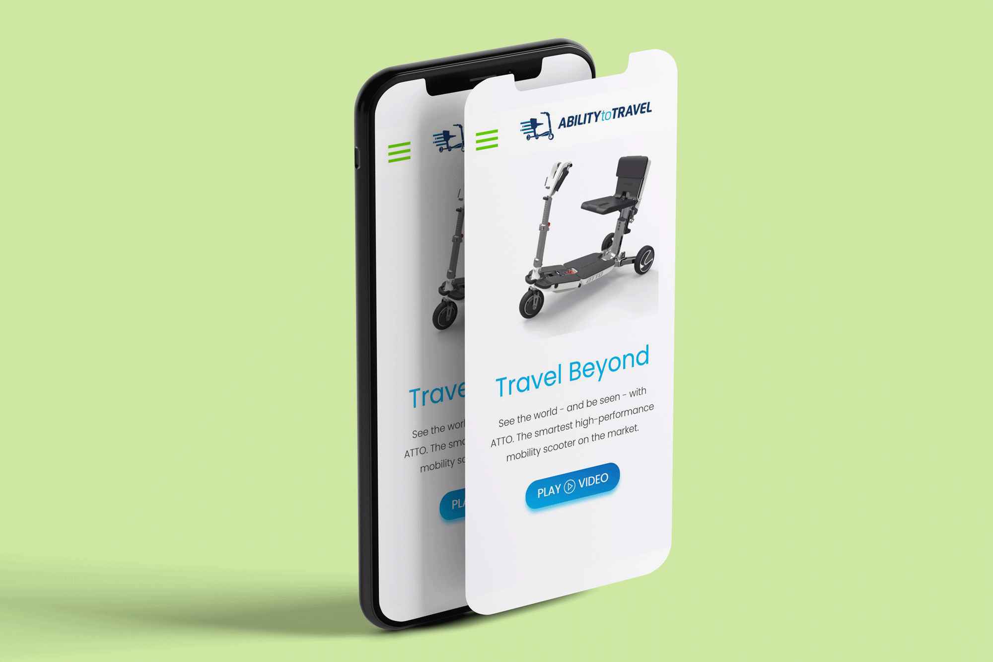 Ability to Travel - Website on iPhone pop-out