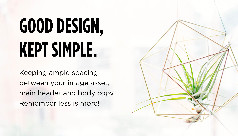 UI Design - Less is more
