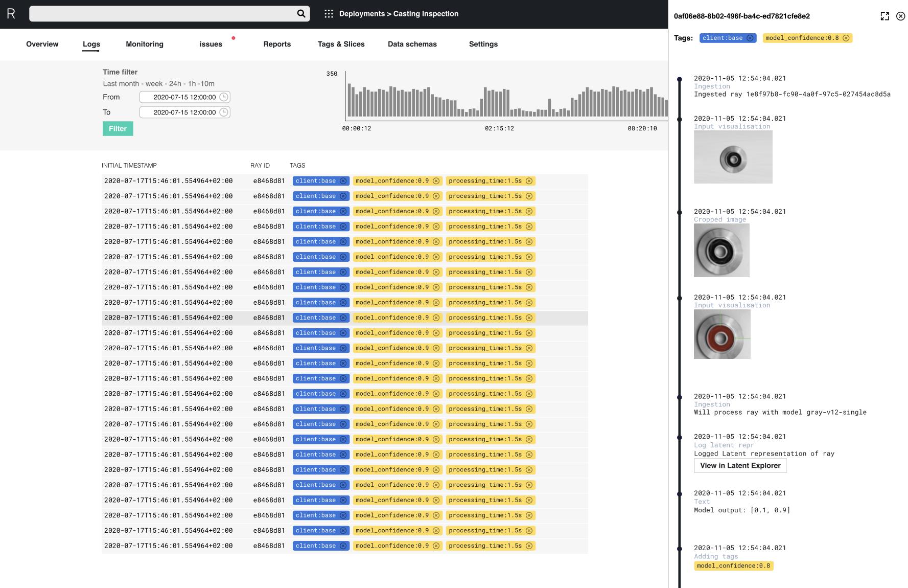 Data tracing, inspection & debugging