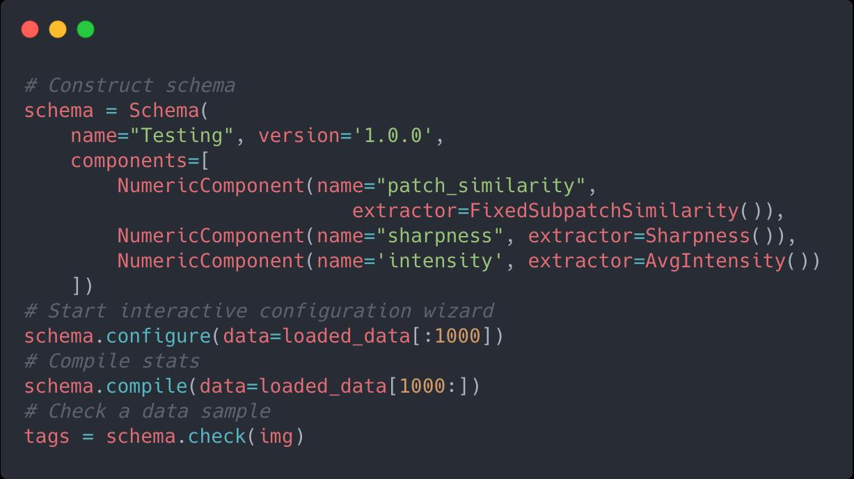 Create data schema