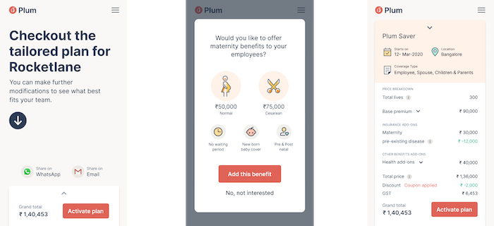 Plum's real-time pricing engine