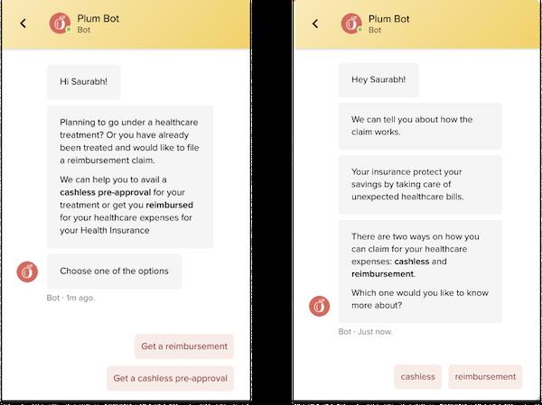 Plum bots handling claim workflows