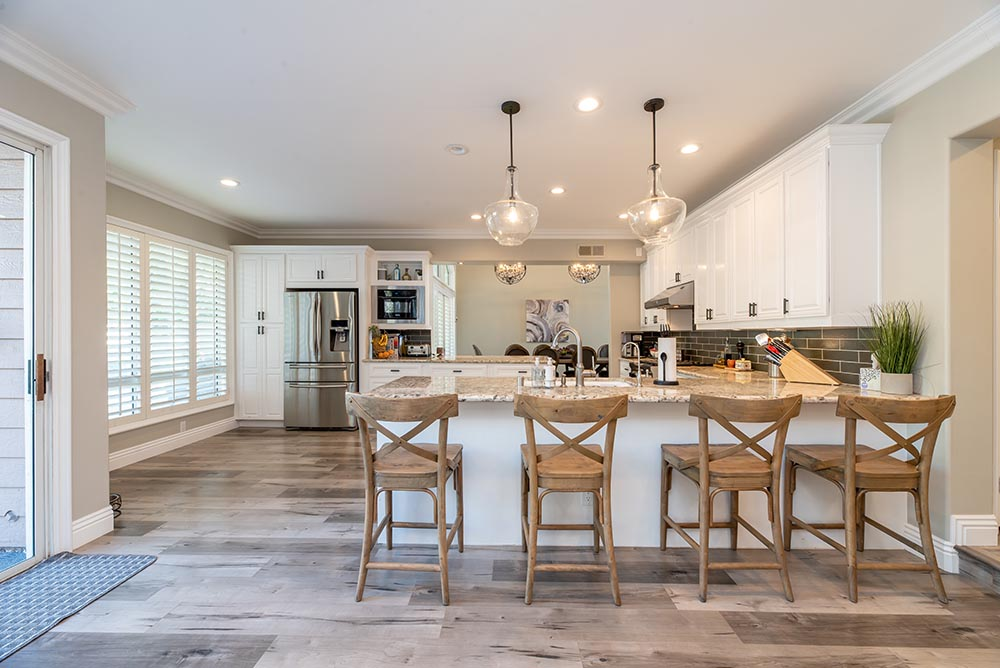 Kitchen and island in a local Cypress Texas home listing
