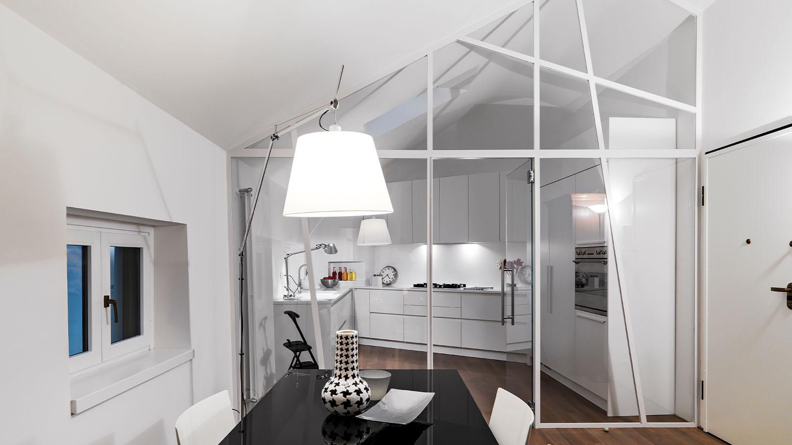 Glasanlage im Wohnbereich