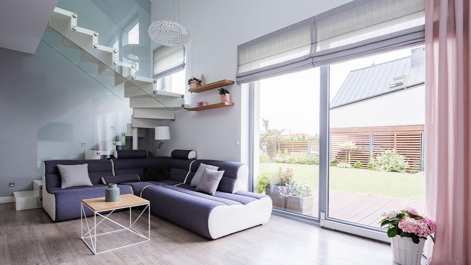 Glasgeländer im Wohnbereich