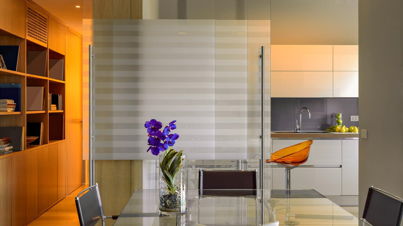 Glasschiebetür für den Wohnbereich