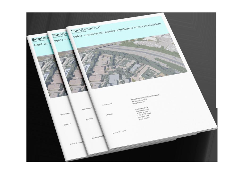 Inrichtingsplan globale ontwikkeling project Excelsiorlaan