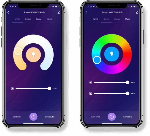 Smart bulb Interactive Home App UI