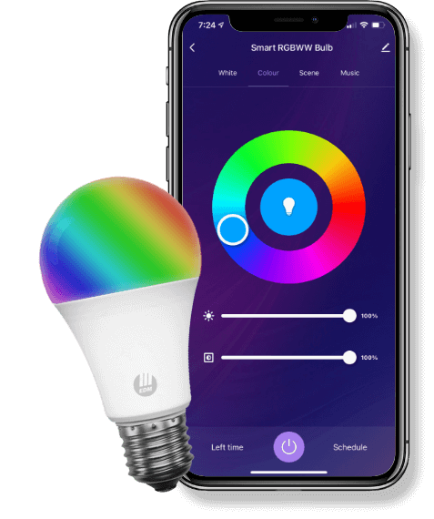 Smart Bulb With Interactive Home App, RGB, RGBWW