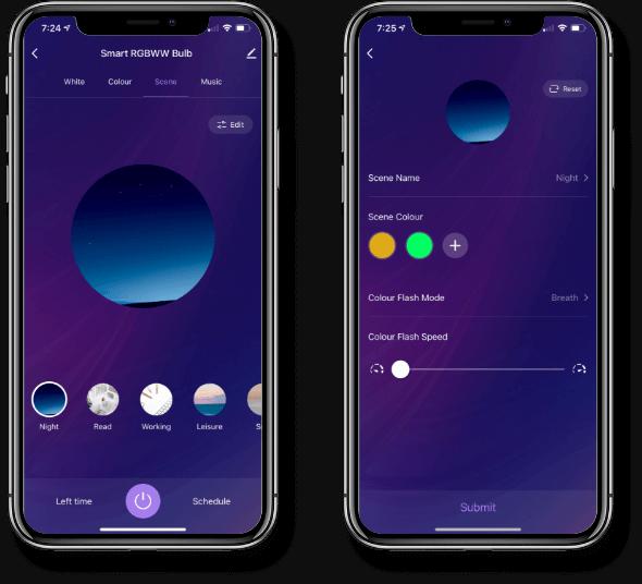 Smart Bulb Interactive Home App APP, custom Light Scenes