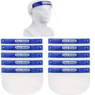 2 Pack | 5 Pack | 10 Pack Safety Face Shield, All-Round Protection Headband with Clear Anti-Fog Lens, Lightweight Transpar...