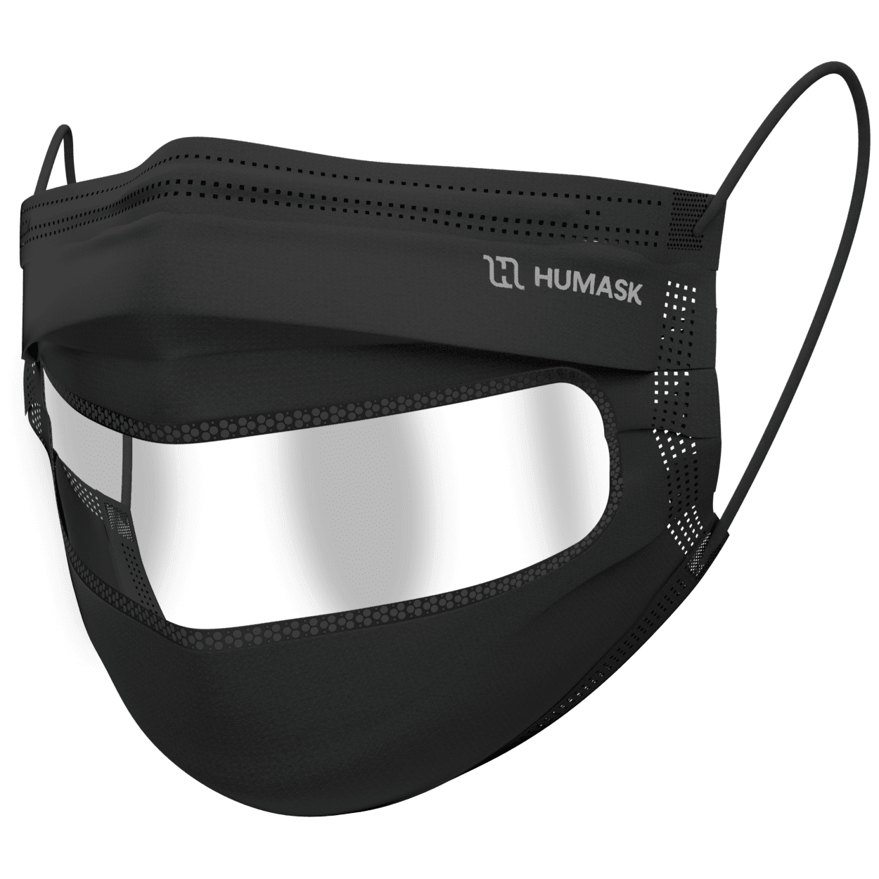 Level 2 Transparent Face Mask- Black
