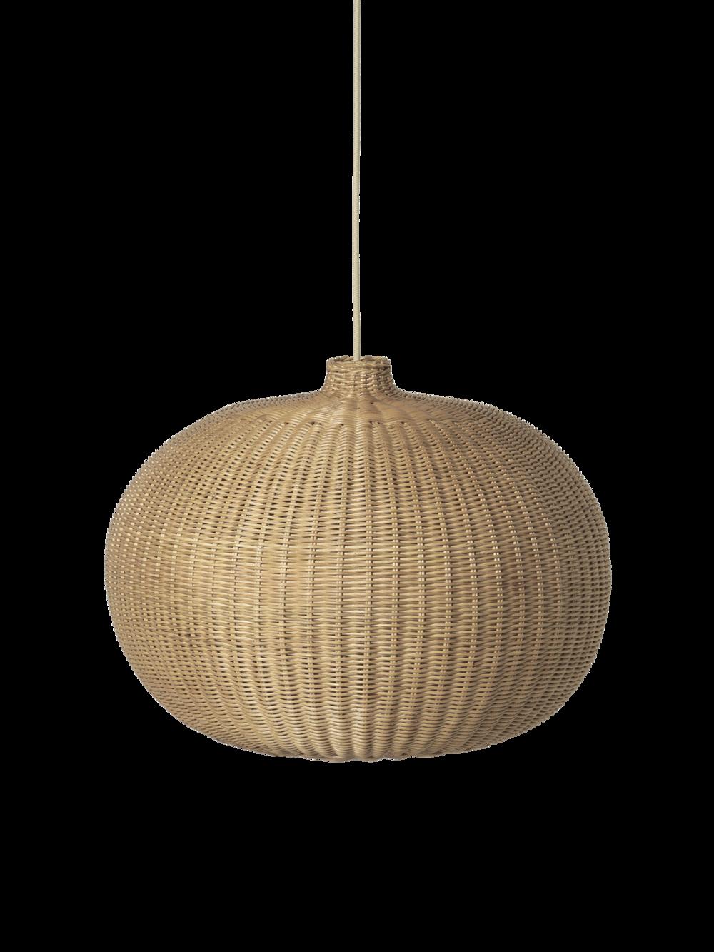 Braided Belly Lamp Shade Natural