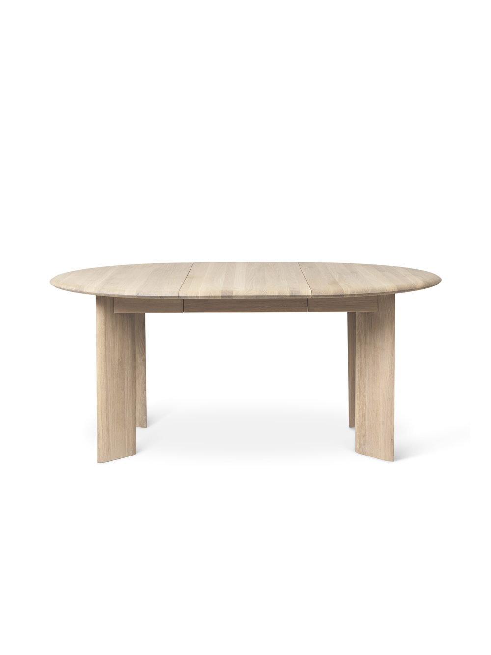 Bevel Table - White Oiled Oak - Extendable Ø117-167cm