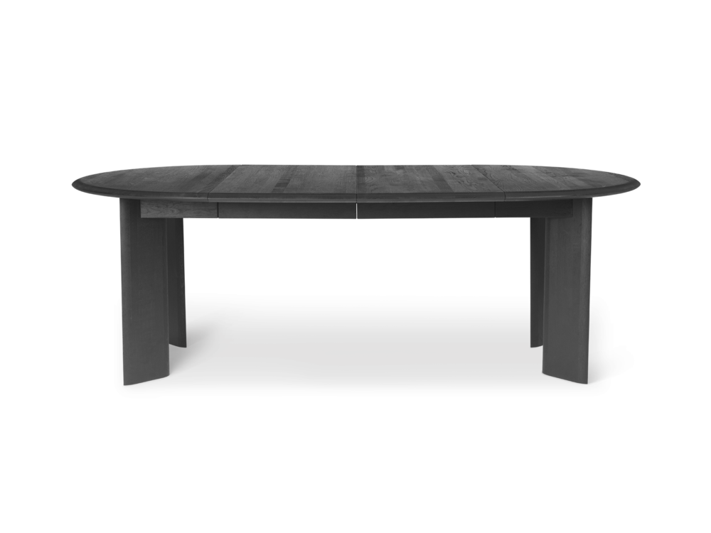 Bevel Table - Black Oiled Oak - Extendable Ø117-217cm