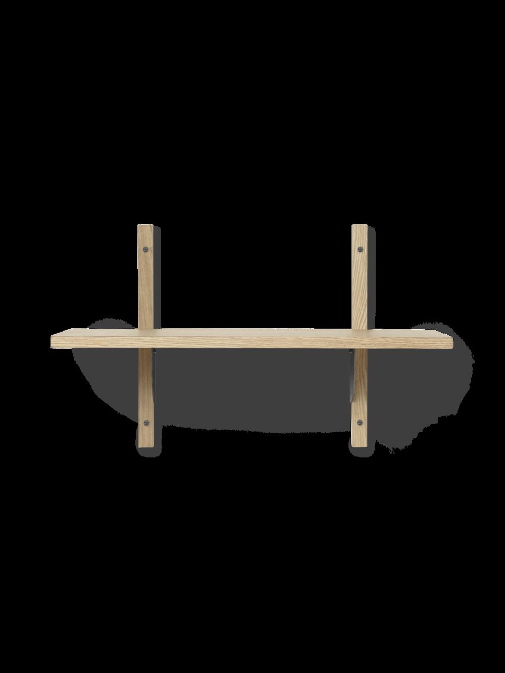 Sector Shelf - Single - Narrow - Natural - Black Brass