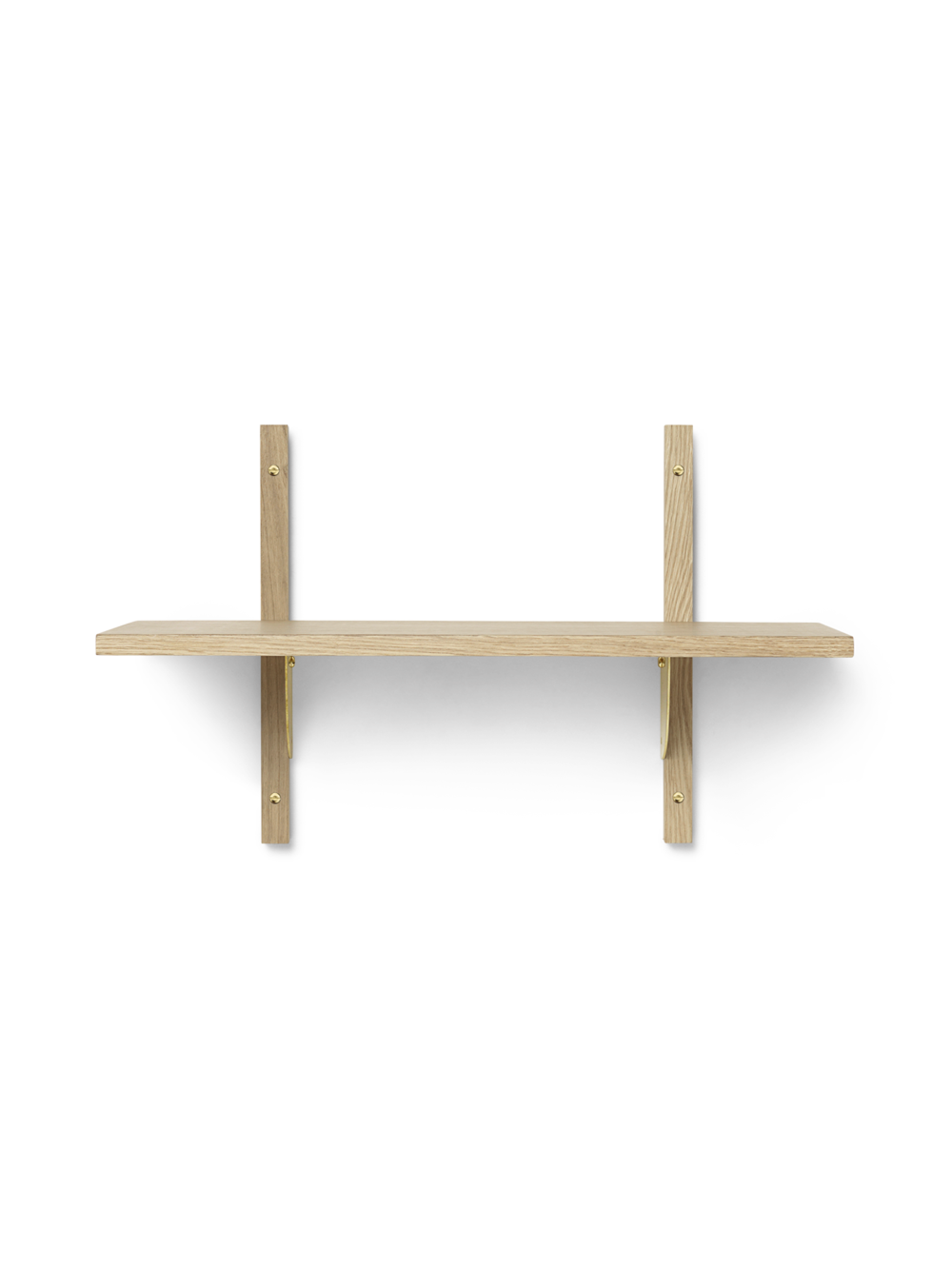 Sector Shelf - Single - Narrow - Natural - Brass