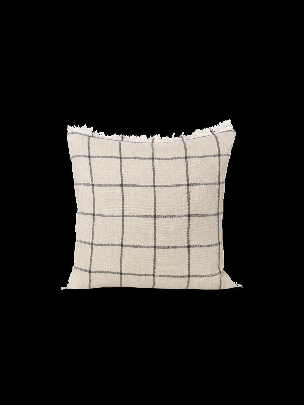 Calm Cushion - Camel/Black 50x50