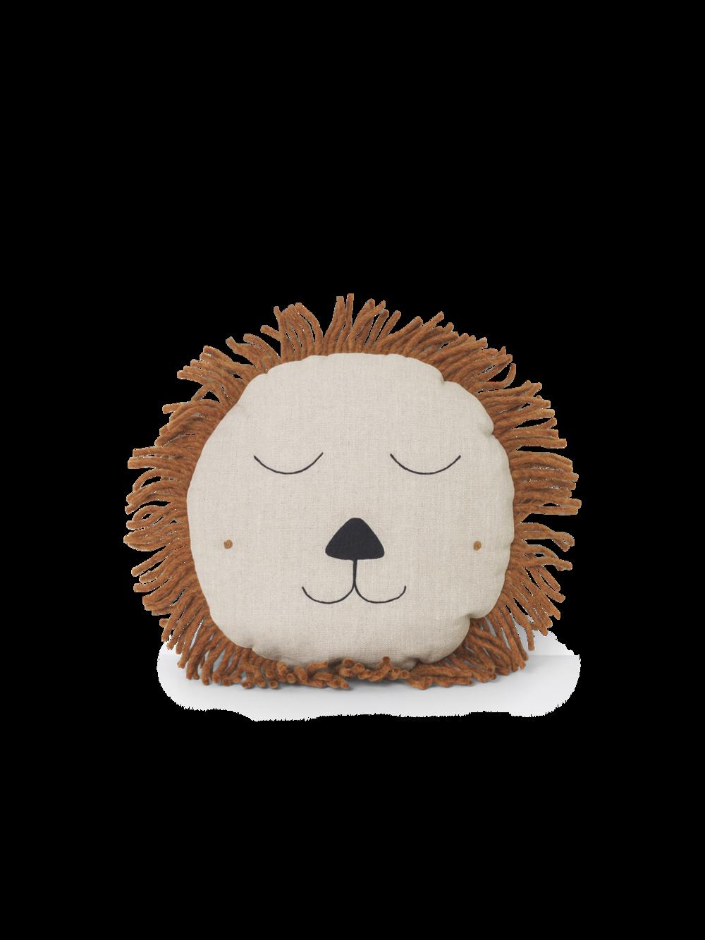 Safari Cushion - Lion Natural