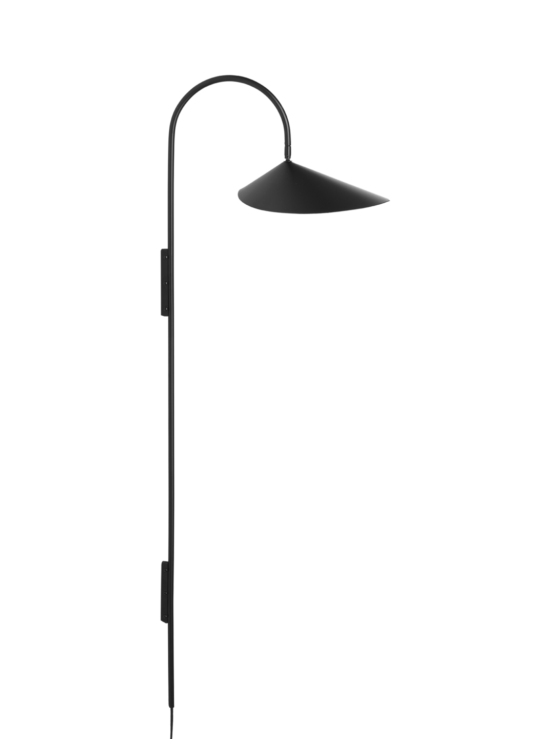 Arum Tall Wall Lamp Black