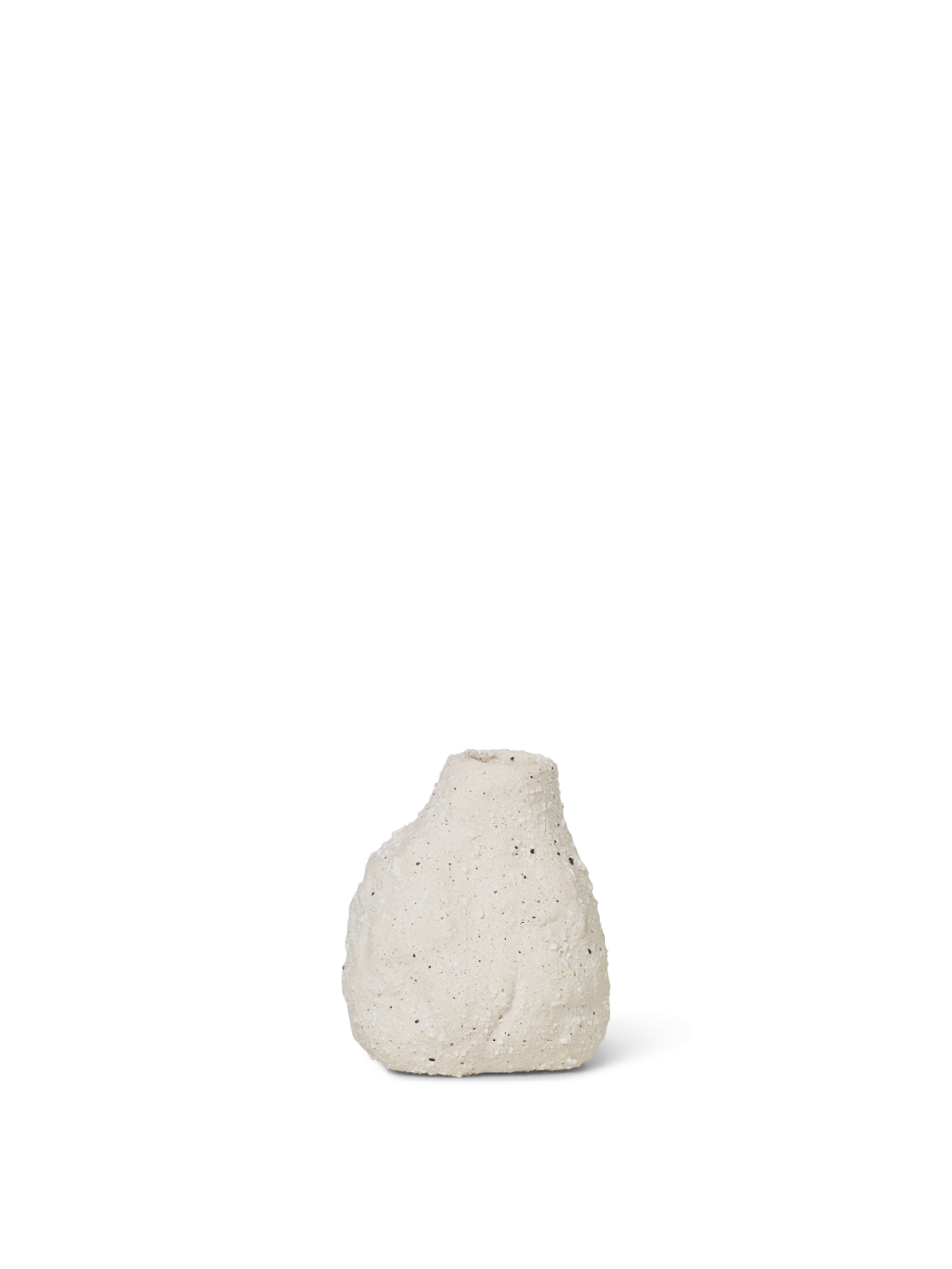 Vulca Mini Vase - Off-White Stone