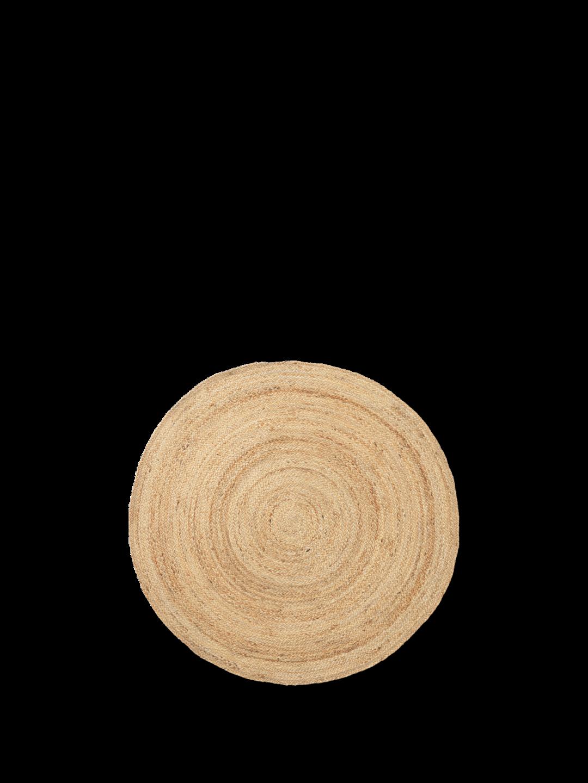 Eternal round Jute Rug Small - Natural