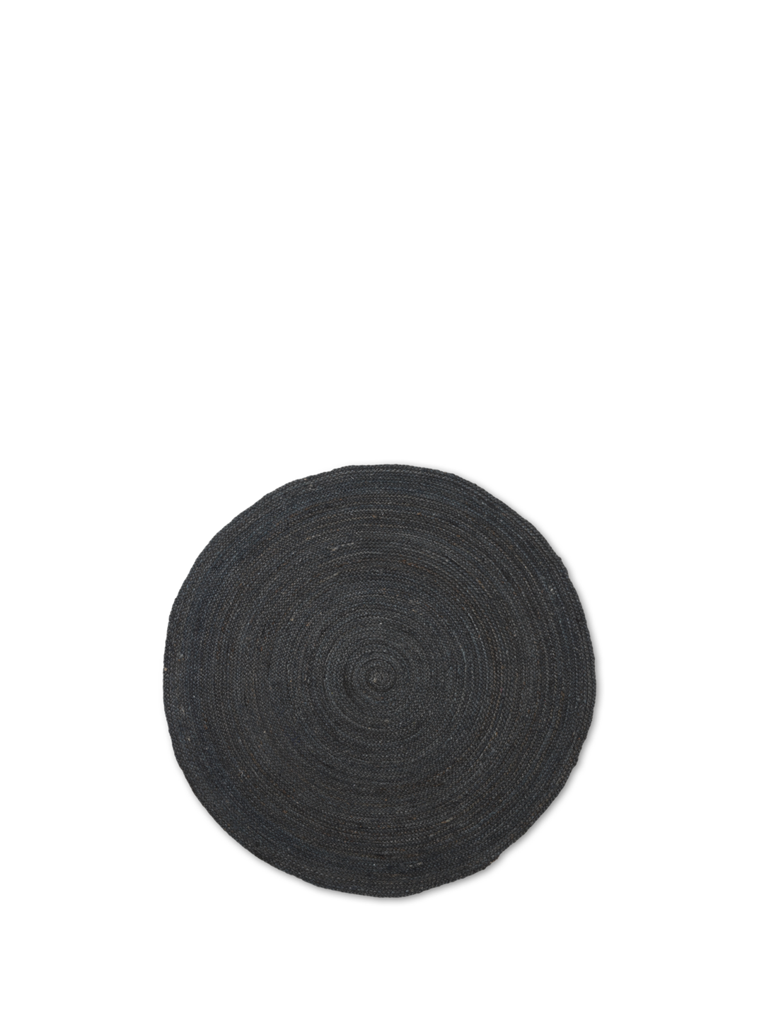 Eternal round Jute Rug Small - Black