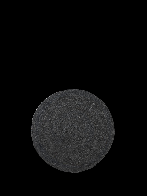 Eternal round Jute Rug Small - Black
