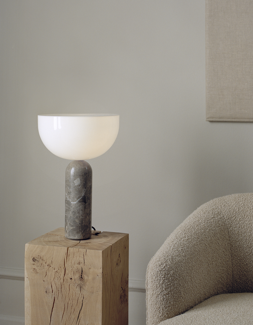 Kizu Table Lamp Gris Du Marais Marble Large