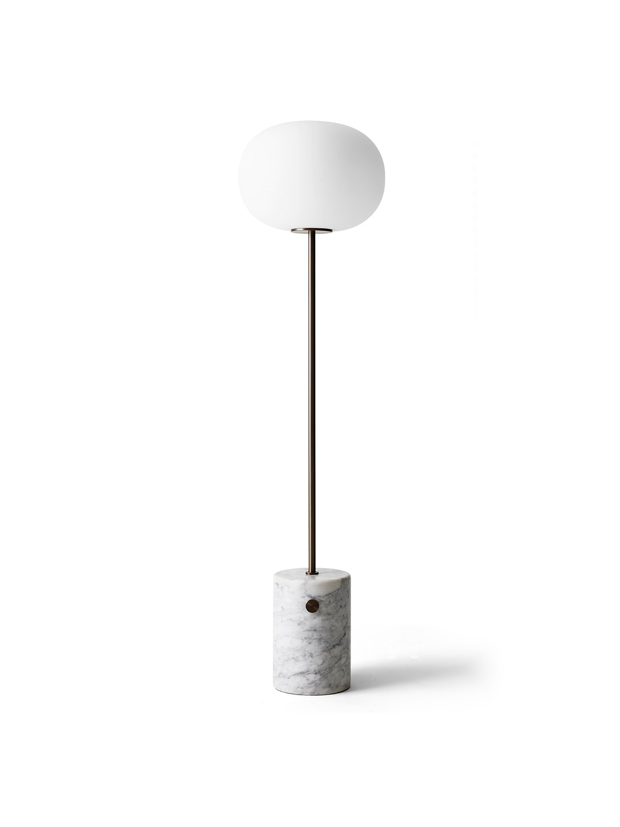 JWDA Floor Lamp White Marble Bronzed Brass