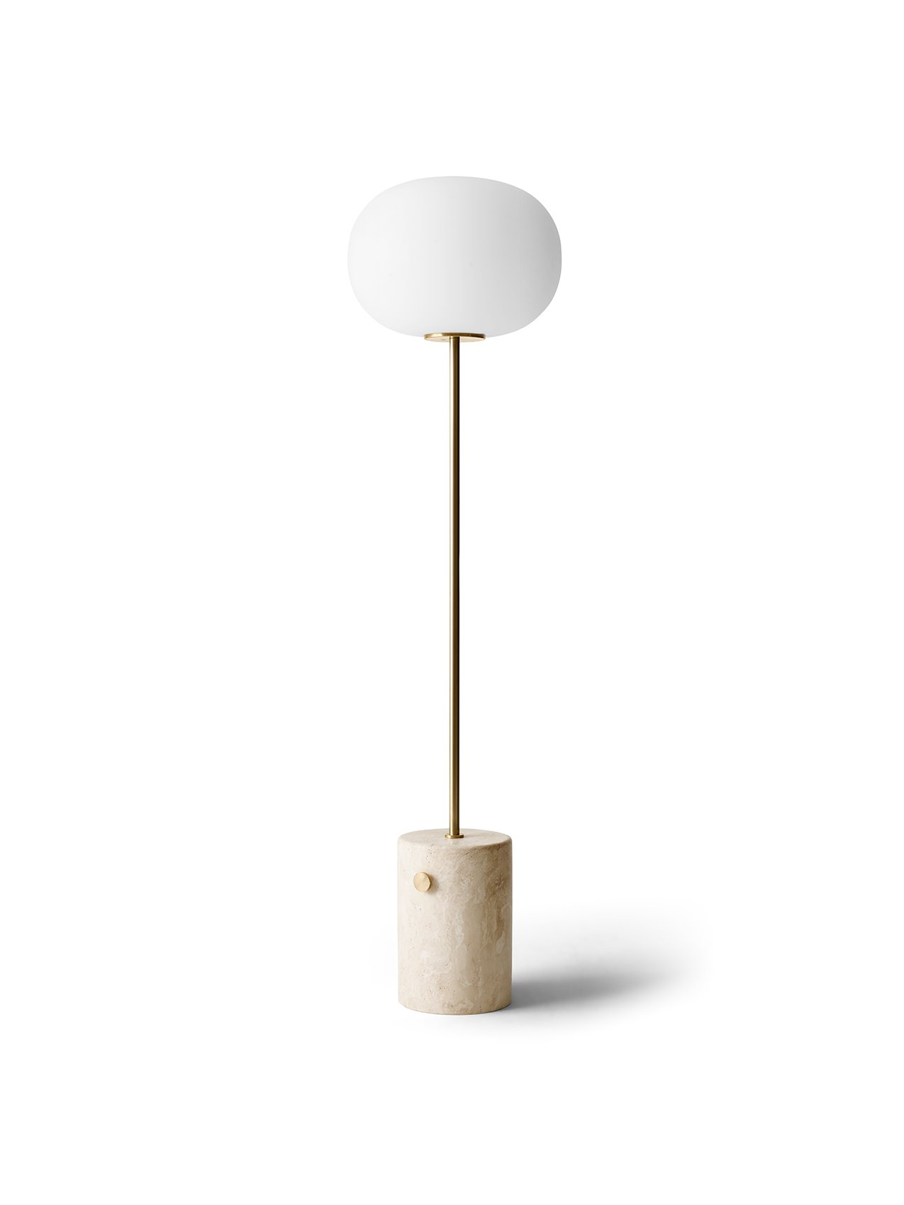 JWDA Floor Lamp Travertine Brass