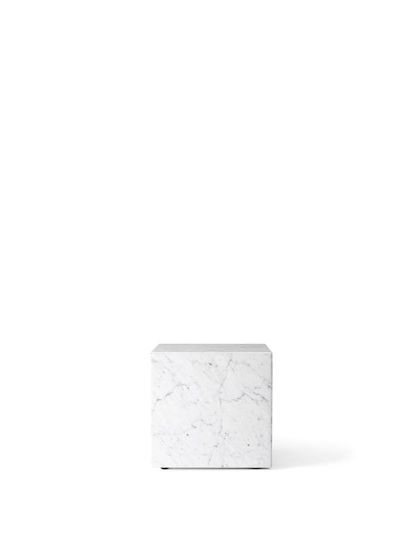 Plinth Cubic White Carrara