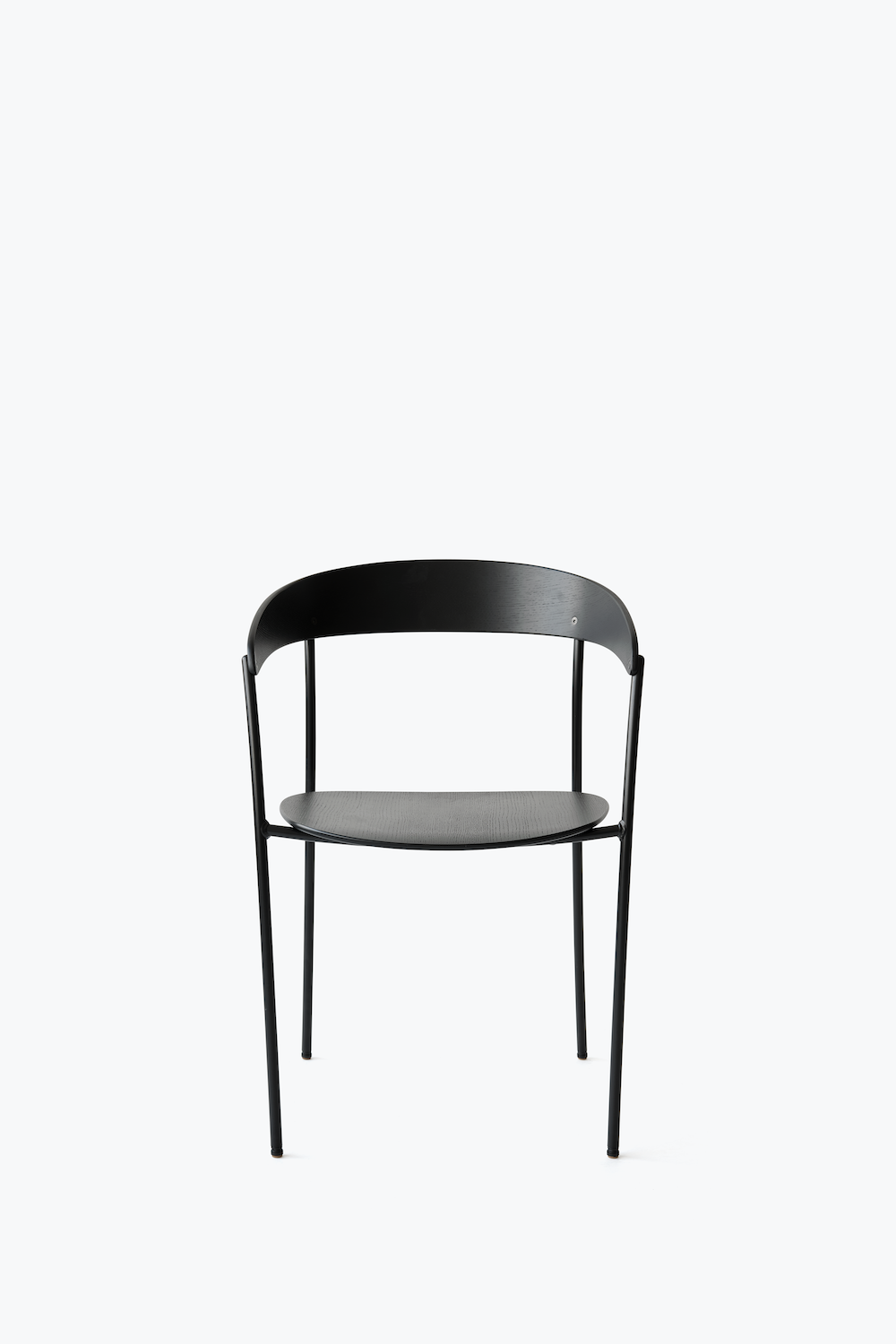 Missing Chair - Black Lacquered Oak w. Black Frame