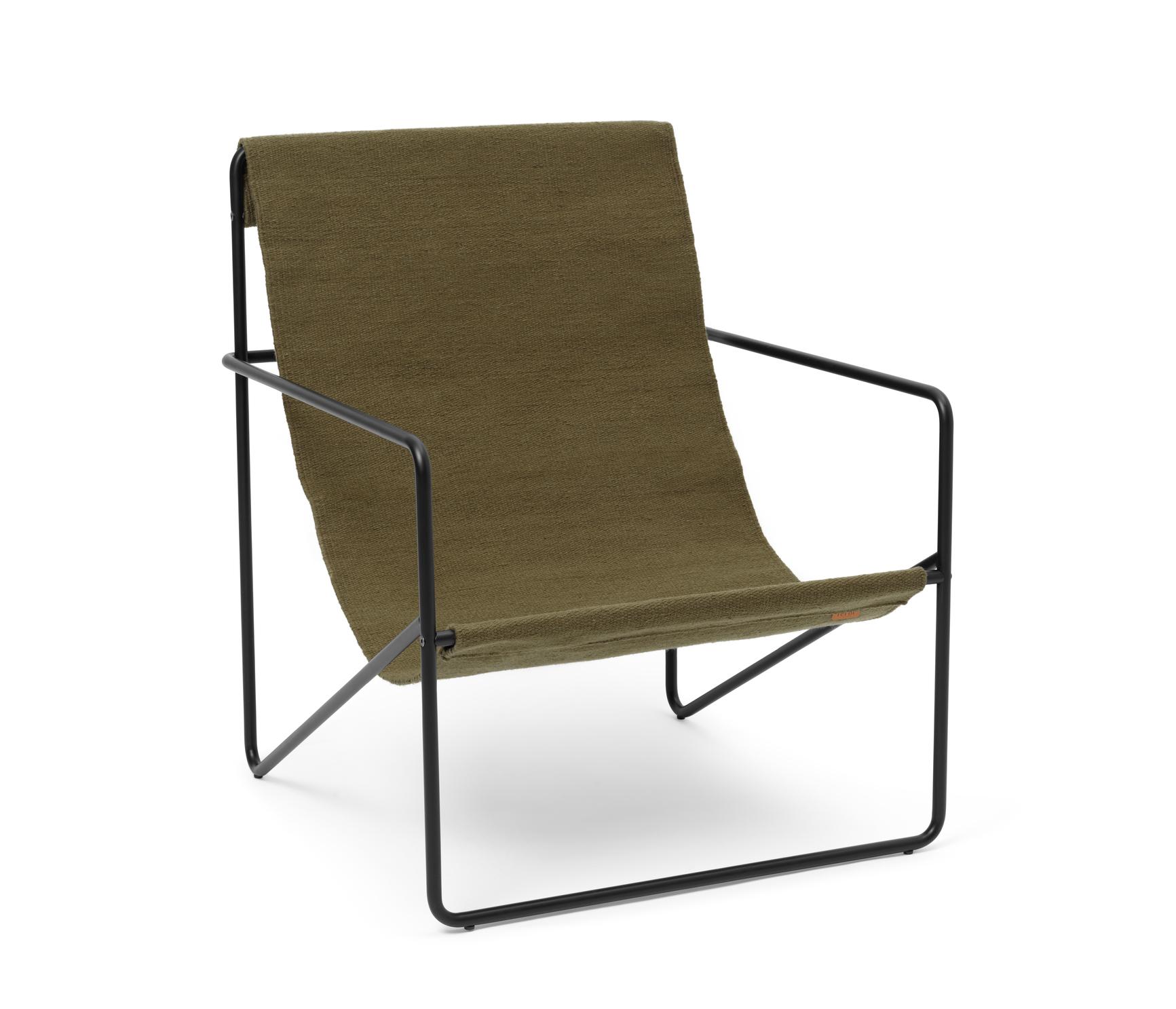 Desert Lounge Chair Black/Olive