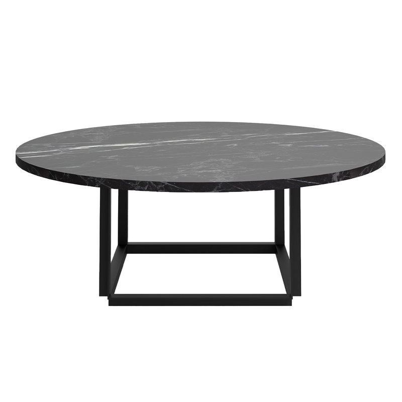 Florence Coffee Table Ø90 - Black Marquina