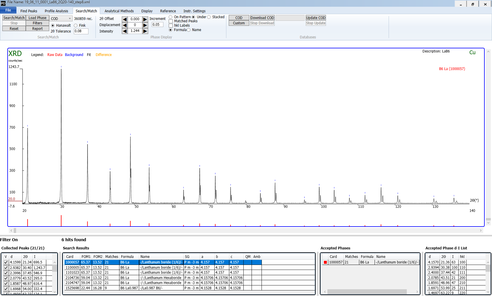 powder diffraction software